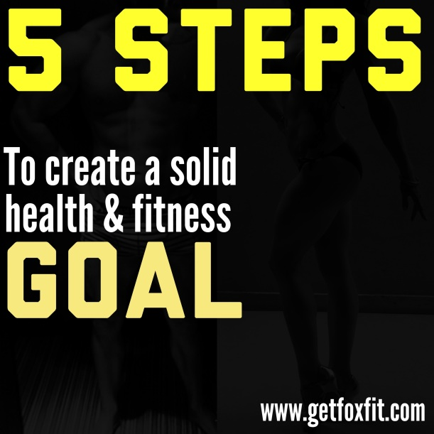 Friday Five: 5 Steps to Create a Solid Health & Fitness Goal