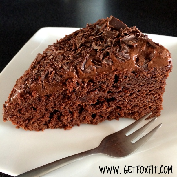 Vegan Chocolate Cake (Recipe: www.getfoxfit.com)